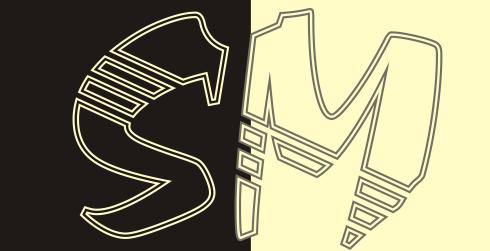 Дизайн надписи SM фото f_4e65317a6f2a4.png