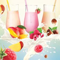 Плакат «Коктейль-завтрак» для Fresh cafe