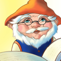 «Дедушка Буквознай» (иллюстрация к детскому задачнику)