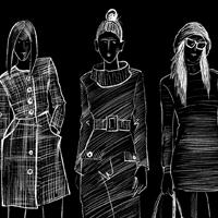 Иллюстрации в виде скетчей для интерактивной примерочной Suit Up