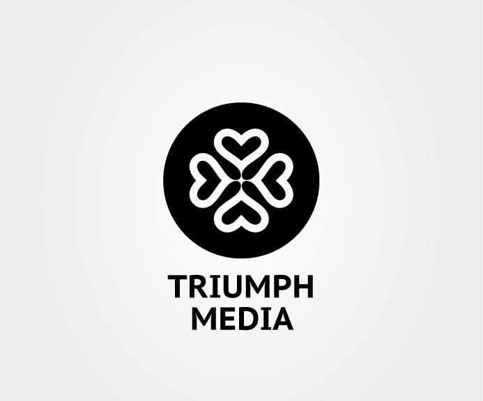 Разработка логотипа  TRIUMPH MEDIA с изображением клевера фото f_50730ae74da6e.jpg