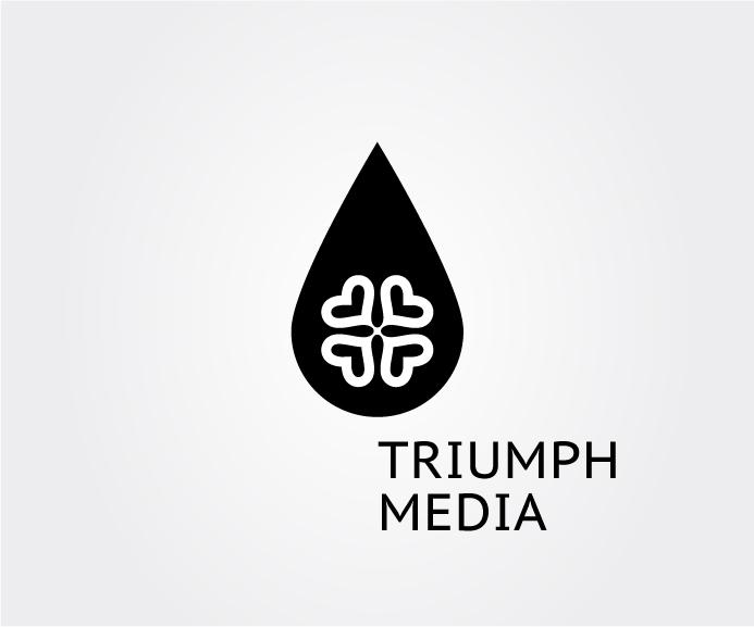 Разработка логотипа  TRIUMPH MEDIA с изображением клевера фото f_50730aef4fda1.jpg