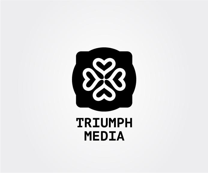 Разработка логотипа  TRIUMPH MEDIA с изображением клевера фото f_50730af48a46f.jpg