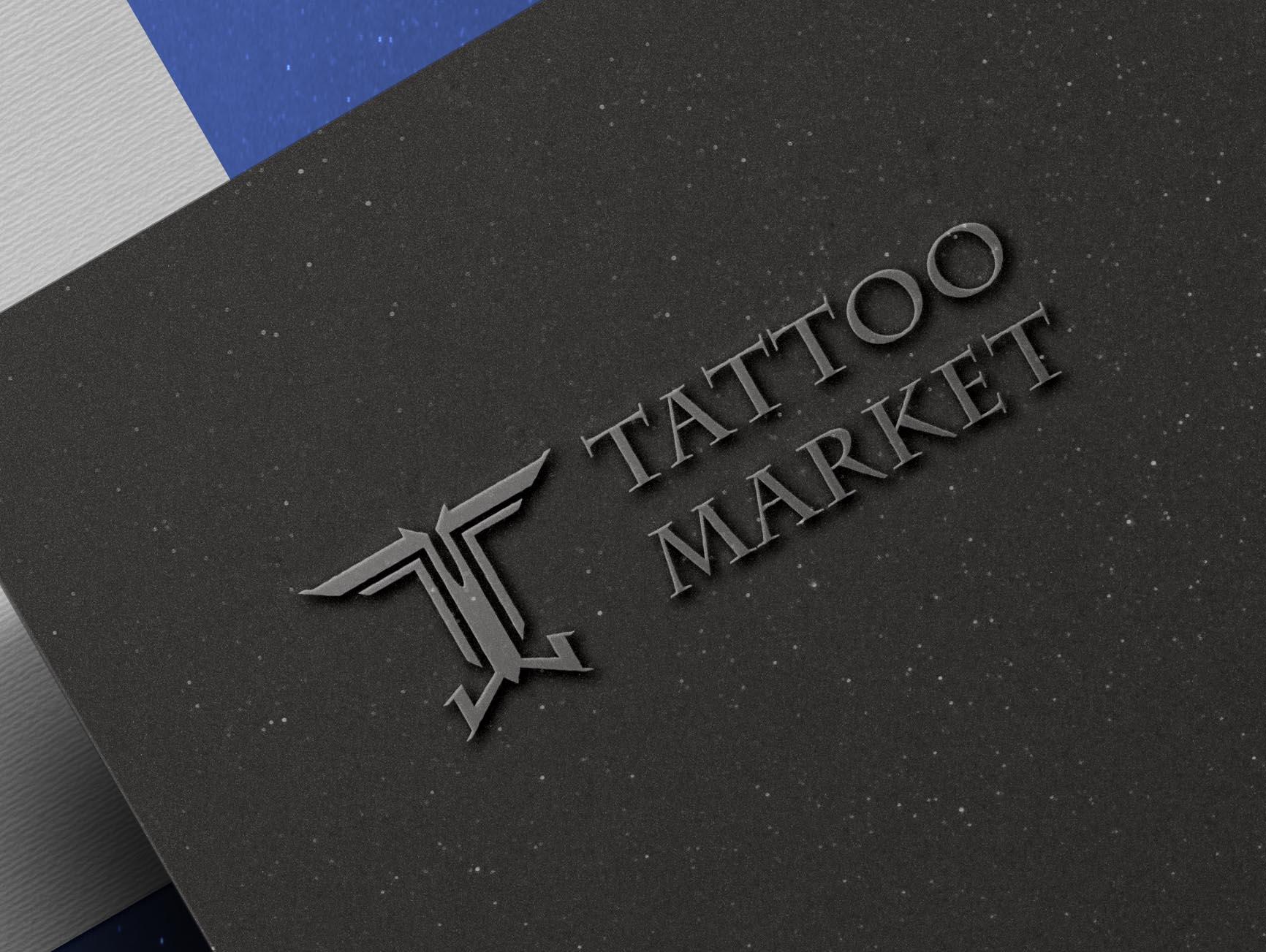 Редизайн логотипа магазина тату оборудования TattooMarket.ru фото f_1695c3a15b880517.jpg