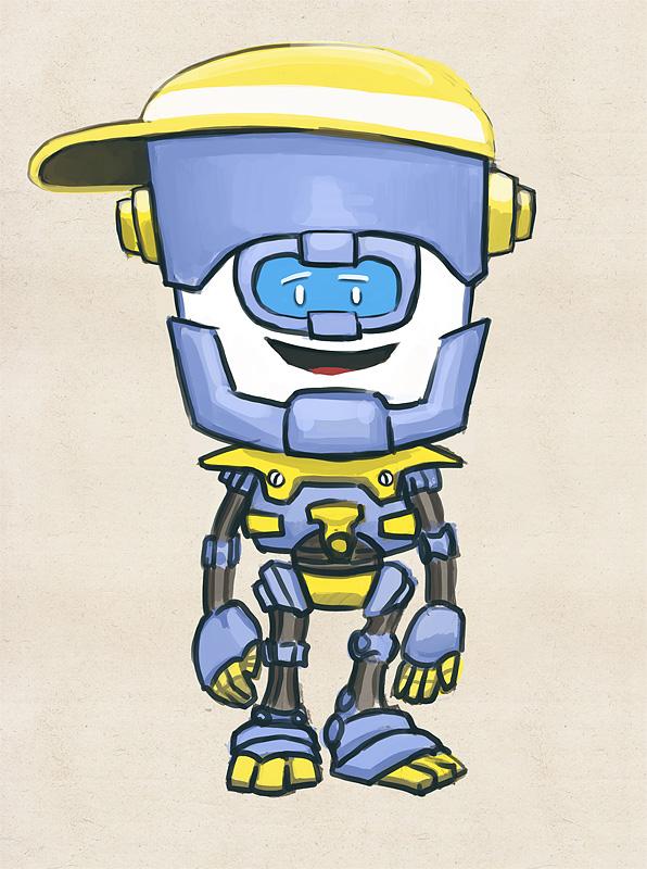 "Модель Робота - Ребёнка ""Роботёнок"" фото f_4b4ce2a128ba2.jpg"