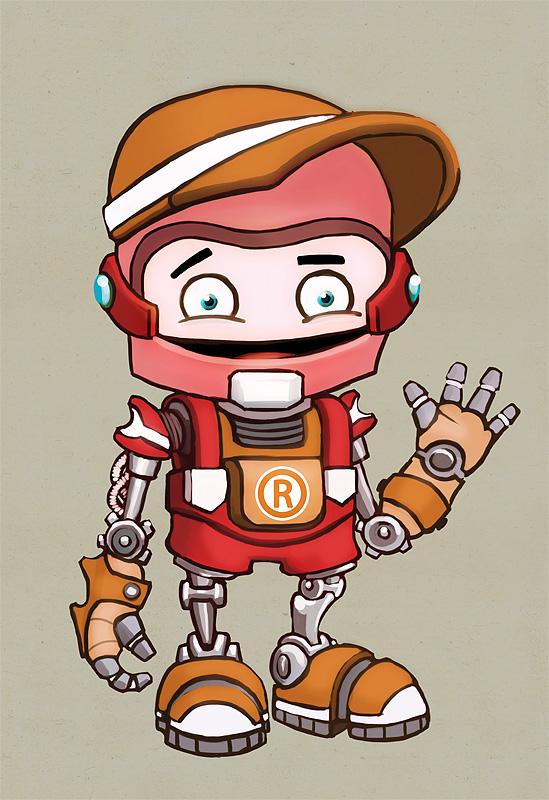 """Модель Робота - Ребёнка """"Роботёнок"""" фото f_4b4dfb2831ad9.jpg"""
