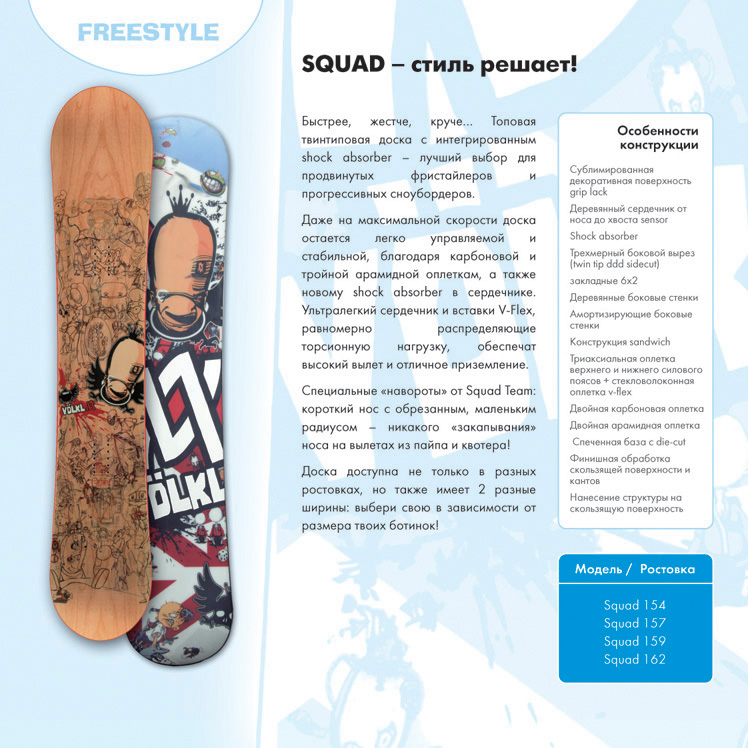 Каталог сноубордов VOLKL