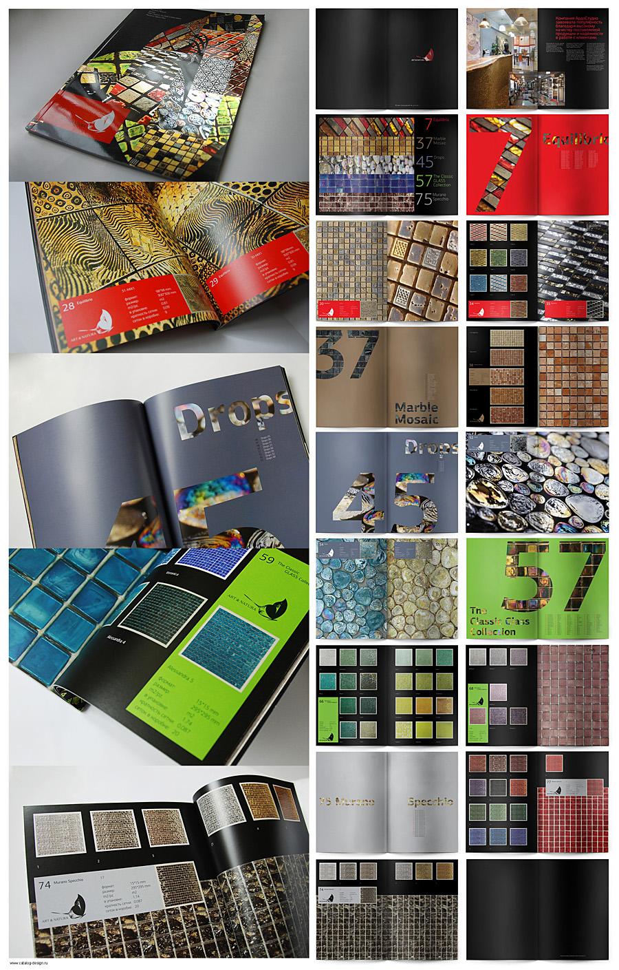 Дизайн каталога эксклюзивной плитки