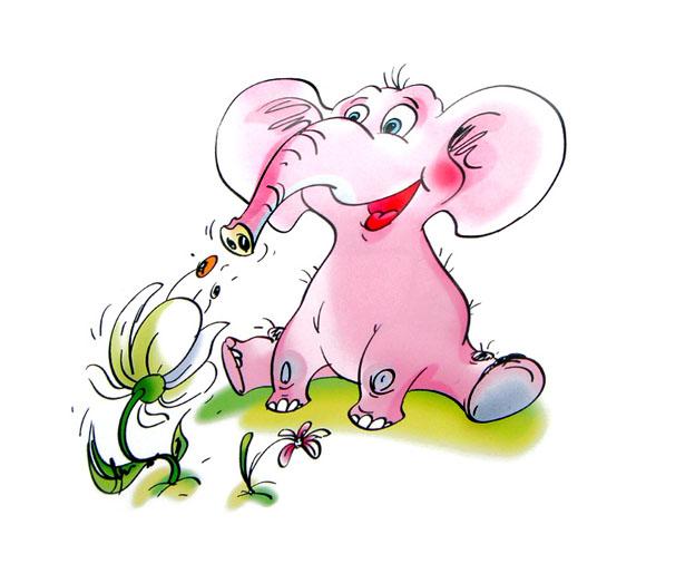 """персонаж """"розовый слон"""""""