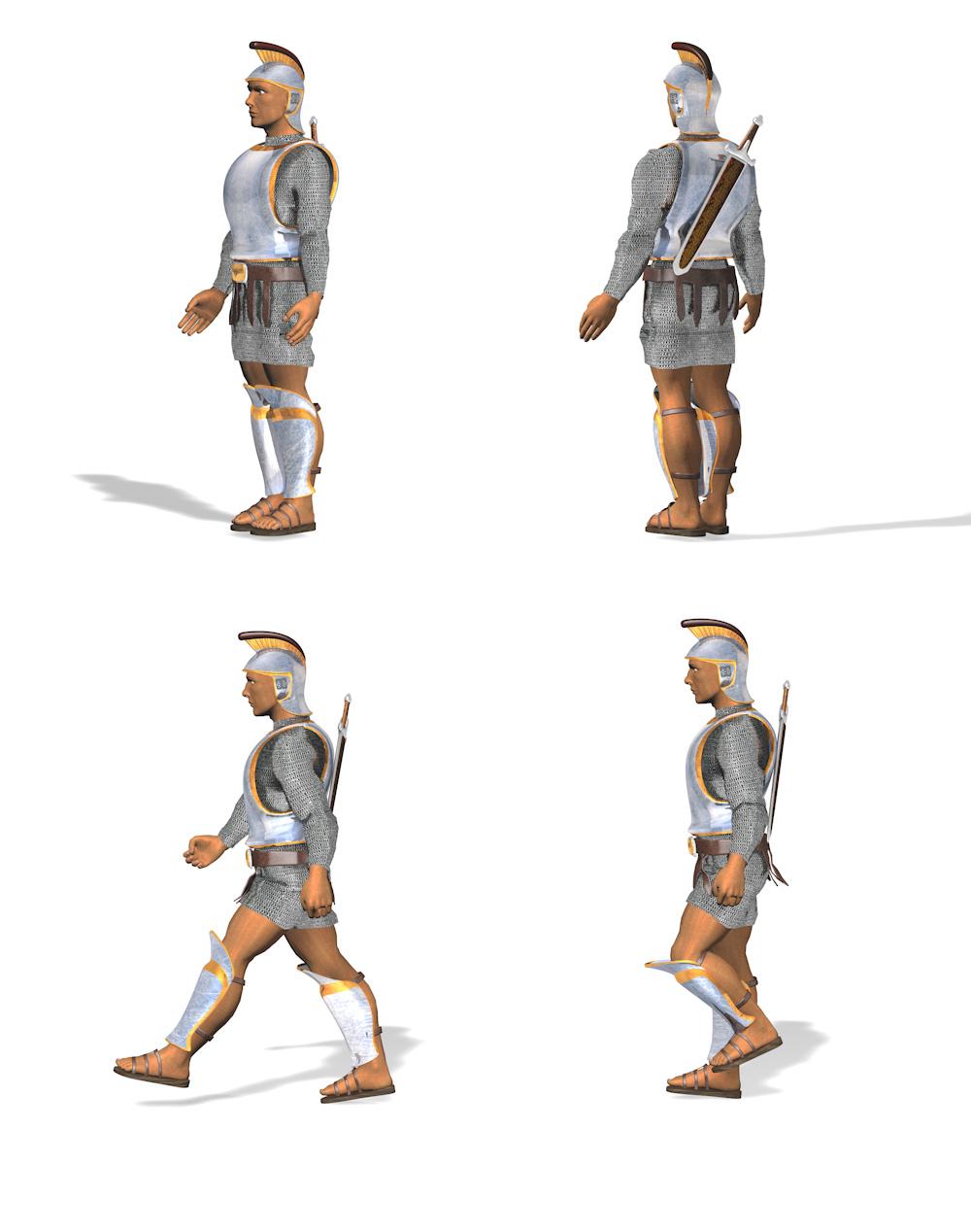 """Легионер - трёхмерный персонаж для лотерейного приложения """"Башня"""""""