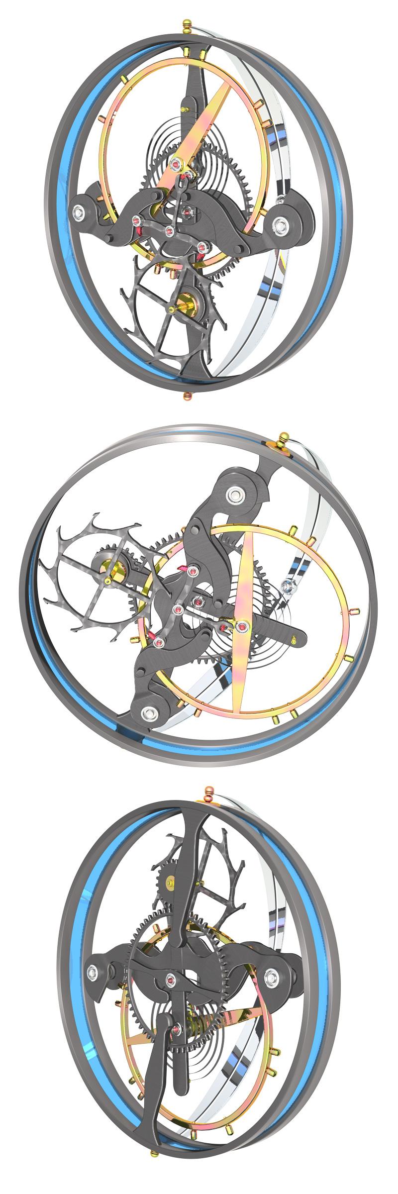 Анимированная модель турбиона Бреге для сайта neidut.ru