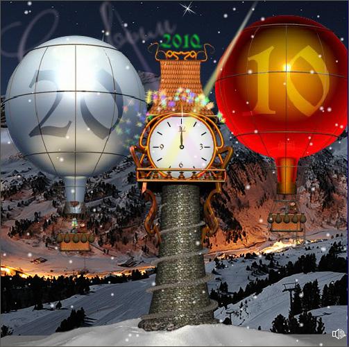 Анимированная новогодняя flash-открытка. 2010 год. Для компании Лотоинтегратор.