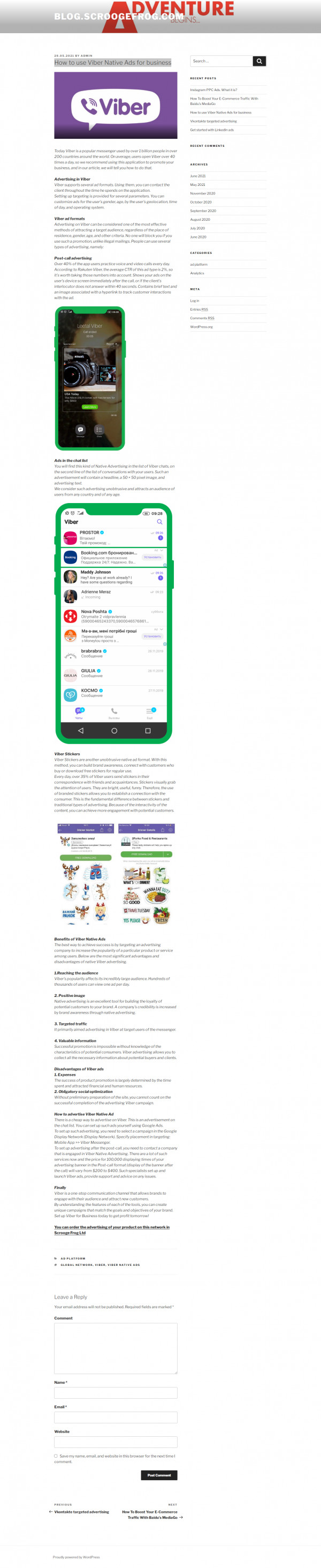 How to use Viber Native Ads for business
