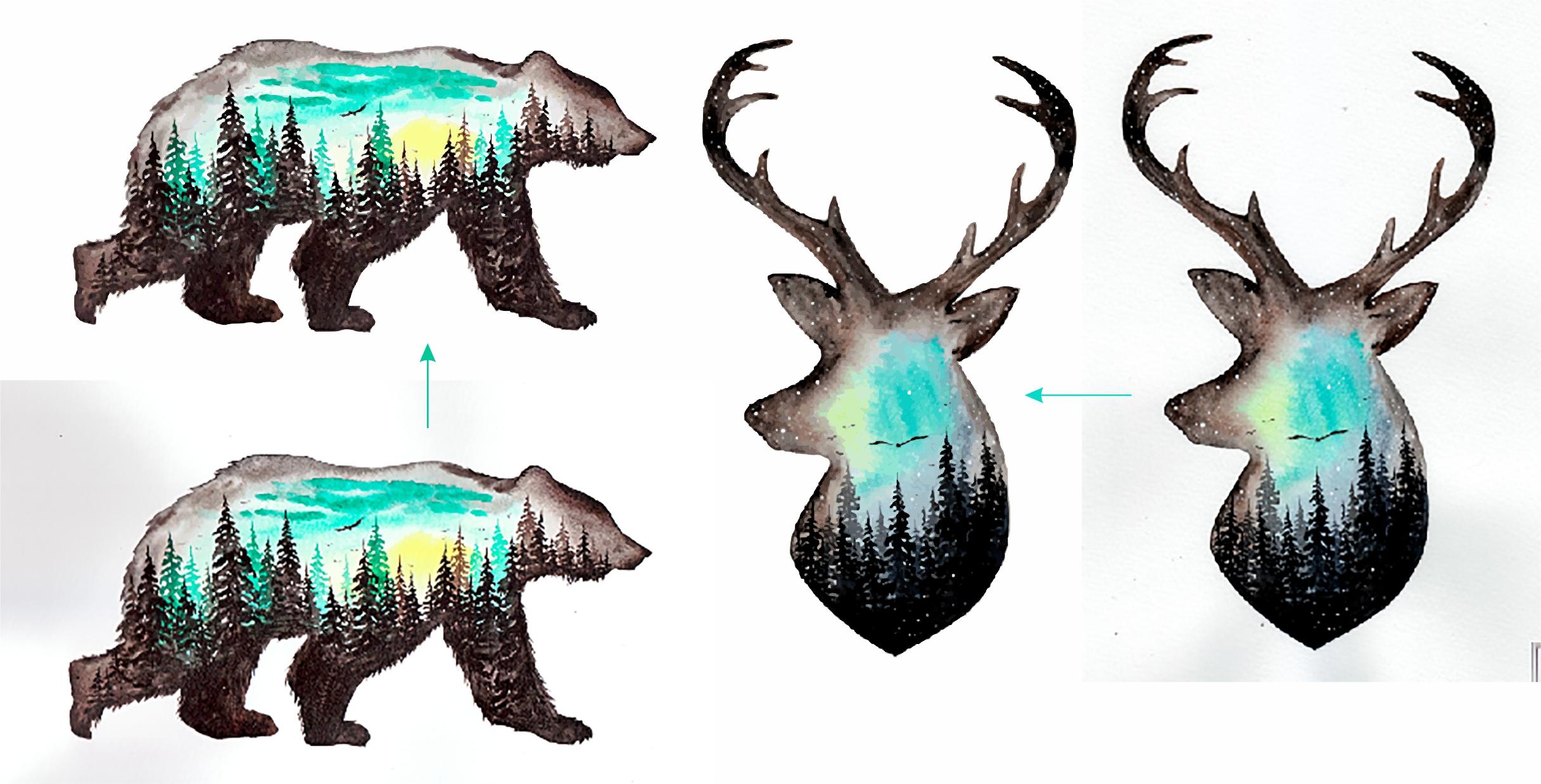 Отрисовка растрового изображения в векторе