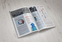 Верстка и инфографика для буклета консалтинговой компании