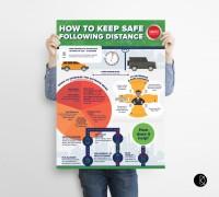 Инфографика о дорожной безопасности
