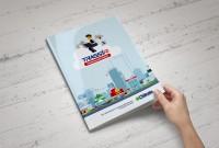 Дизайн и верстка буклета об интерактивном видеонаблюдении