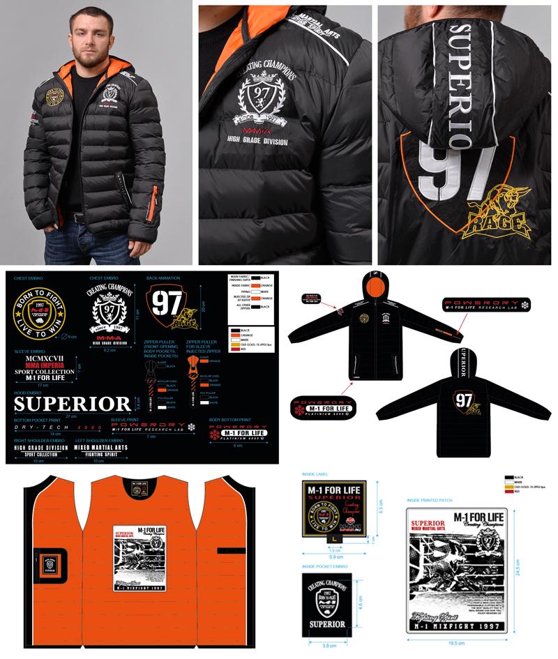Зимняя куртка MMA Imperia (M-1 mixfight)  Superior