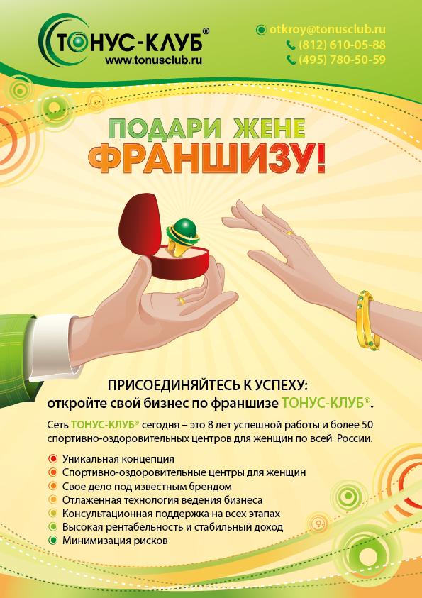 Полоса А4 в журнал, ТОНУС КЛУБ