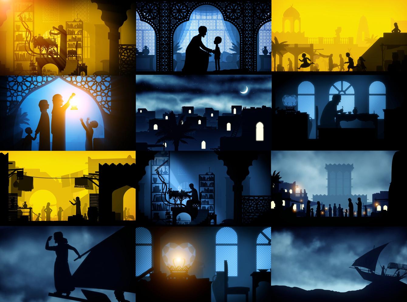 Силуэтная анимация, арабская реклама