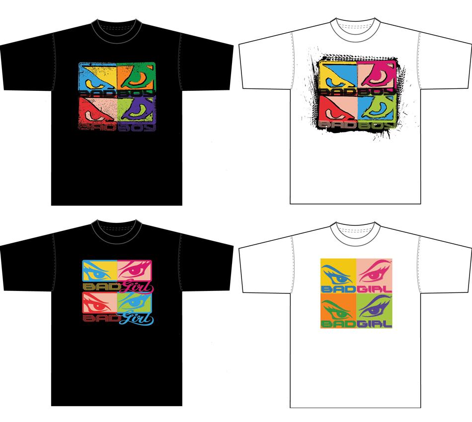 Bad Boy pop art shirts