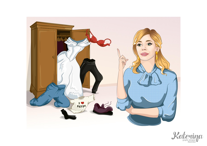 Иллюстрация для сайта о моде
