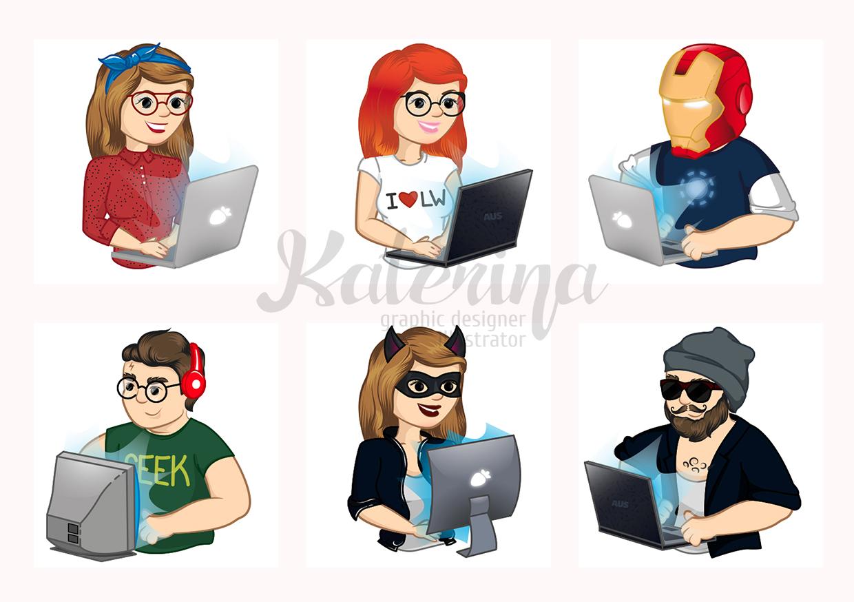 Иллюстрация-конструктор для обучающего сайта  lesson-web.ru
