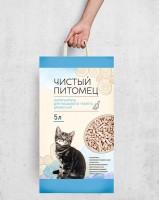 Наполнитель для кошачьего туалета.