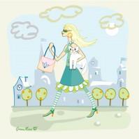 """Подарочные платки для """"Green Mama""""."""