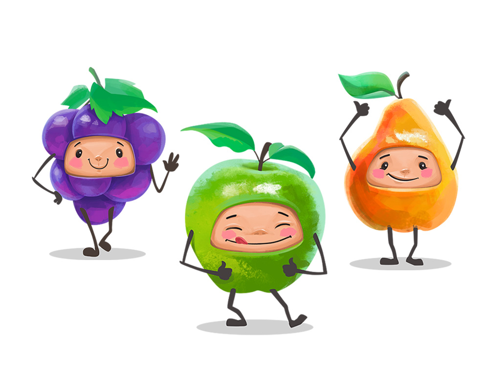 Персонажи для детских соков