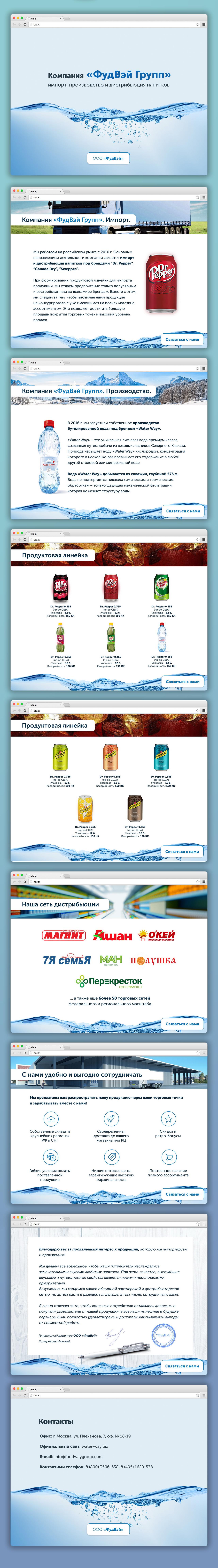 Дизайн презентации для оптово-торговой компании Фуд Вэй Групп