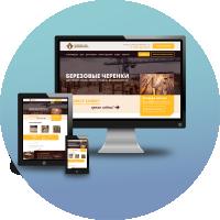 Верстка и программирование Landing Page для компании ЛесИнвест (деревообработка) (CMS WordPress)