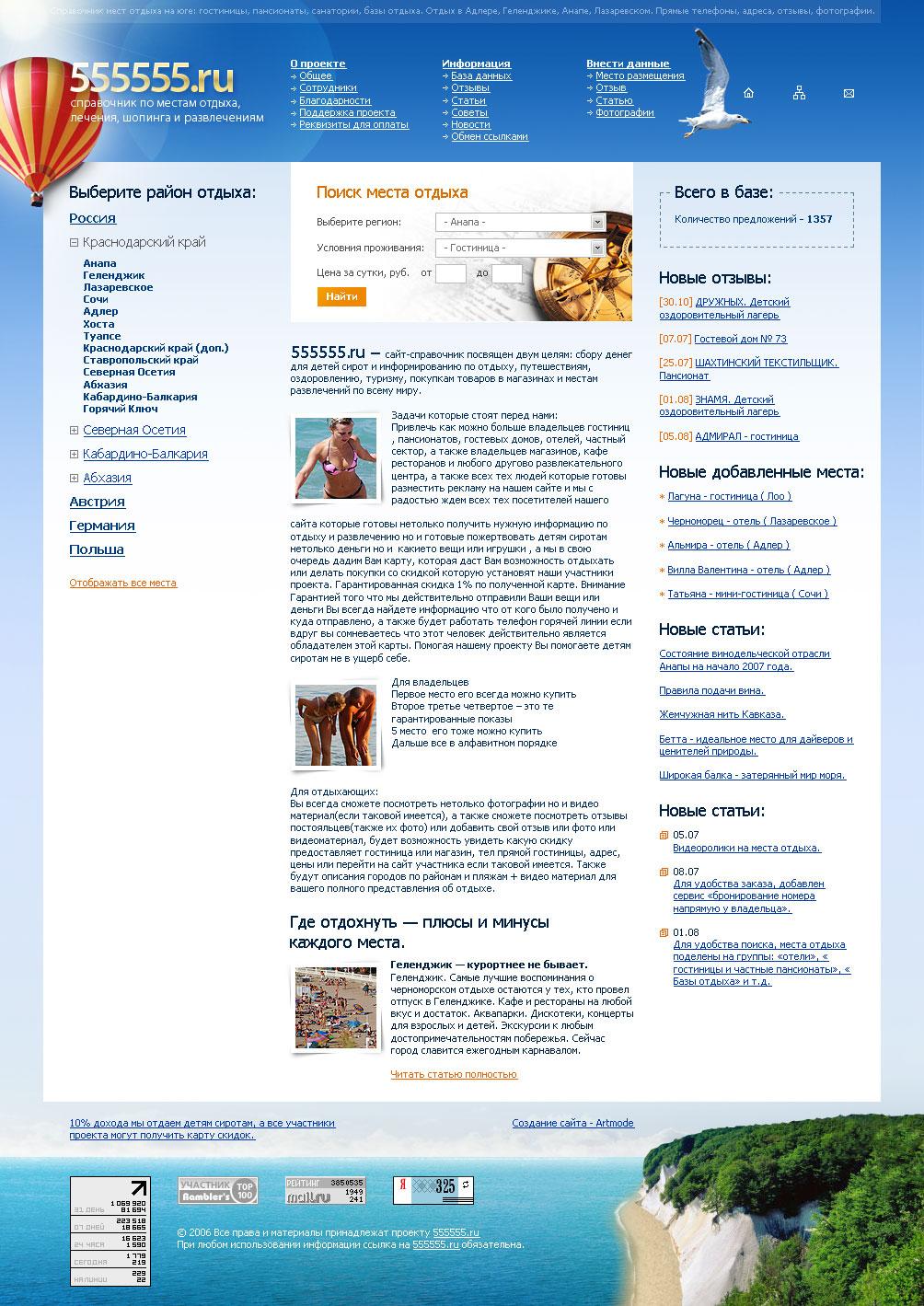 Сайт справочника по местам отдыха
