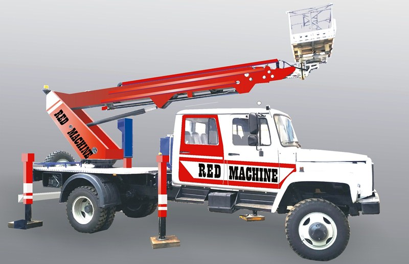 Оформление автогидроподъёмника,  бренд - RED MACHINE фото f_6725e14db913c3fe.jpg