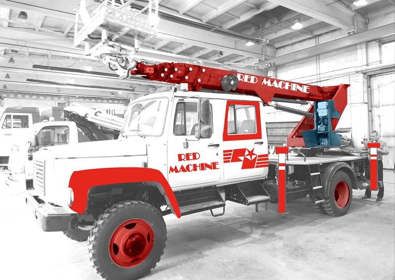 Оформление автогидроподъёмника,  бренд - RED MACHINE фото f_7795e163860c330c.jpg