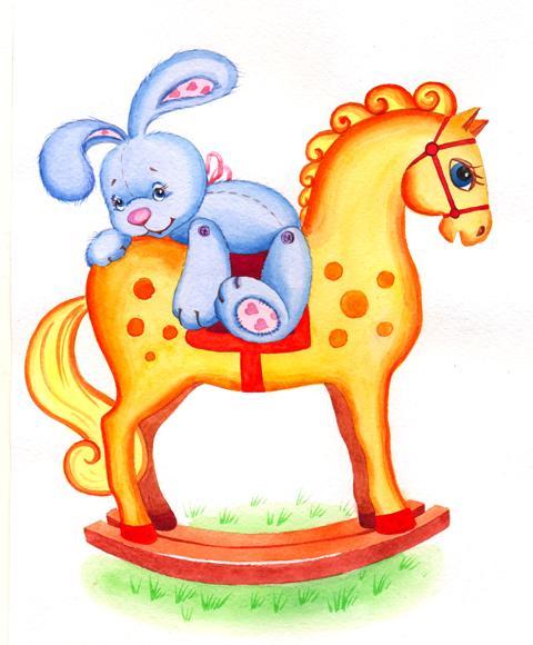 Зайка и лошадка