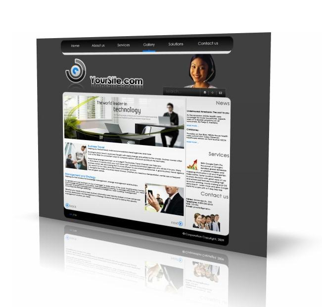 Макет сайта бизнес, финансы на продажу