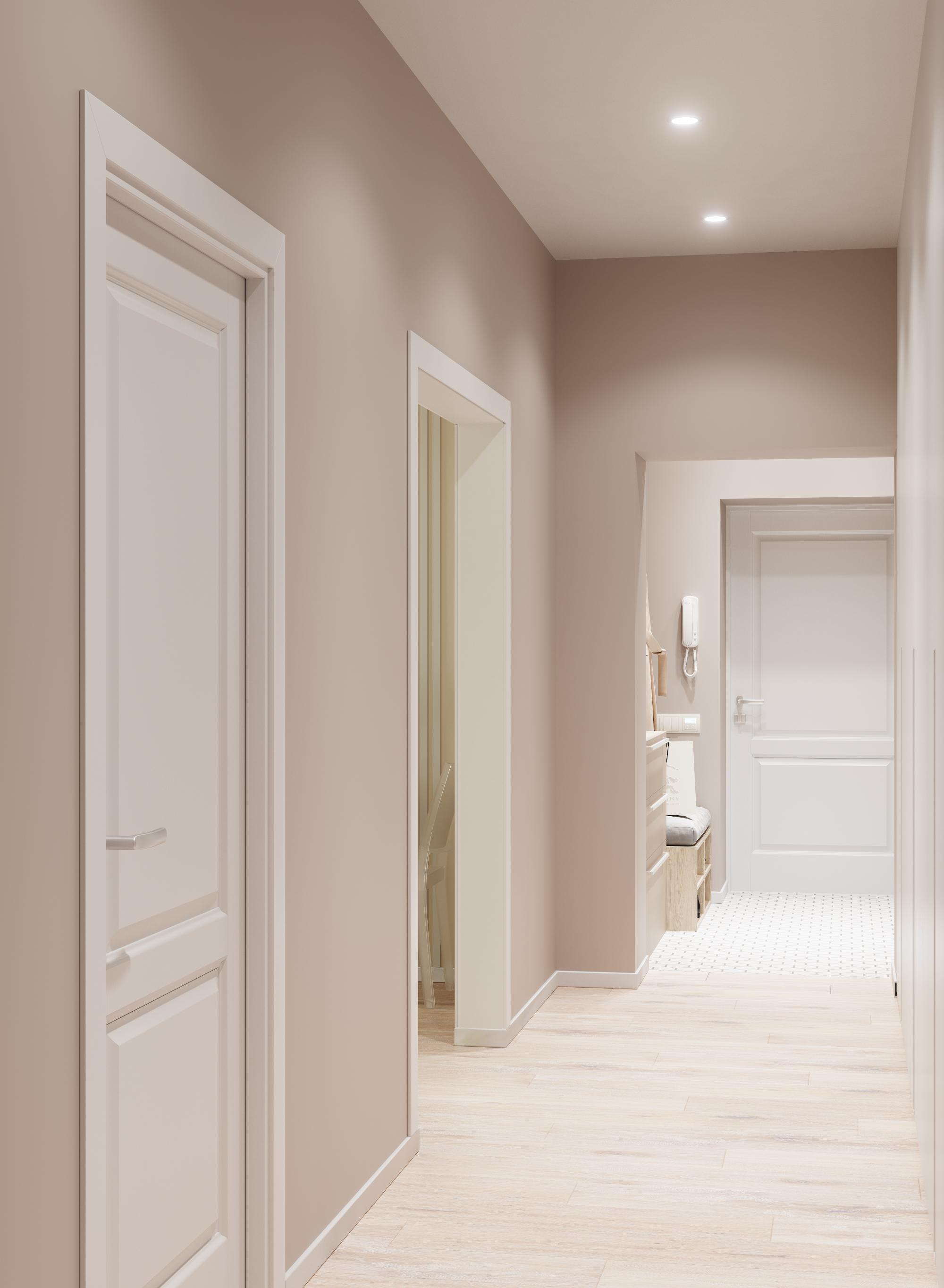 Визуализация прихожая_коридор