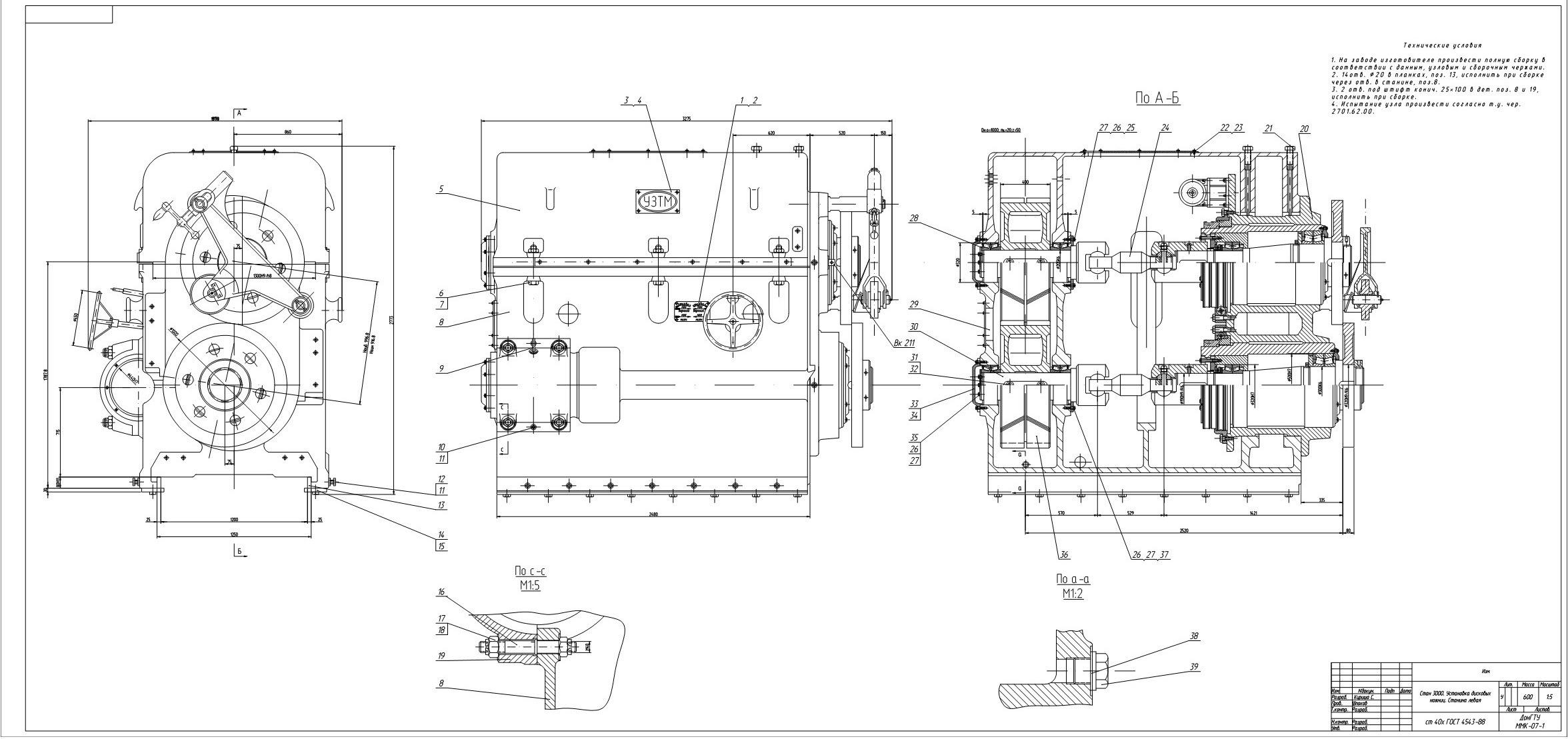 Привод дисковых ножниц ТЛЦ 3000
