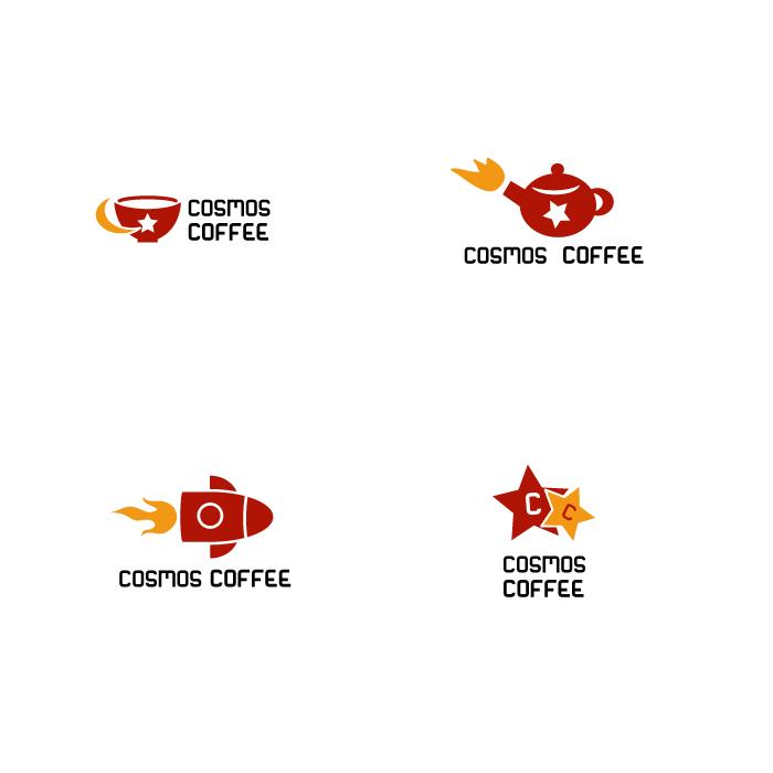 Логотип кафе Cosmos Coffee
