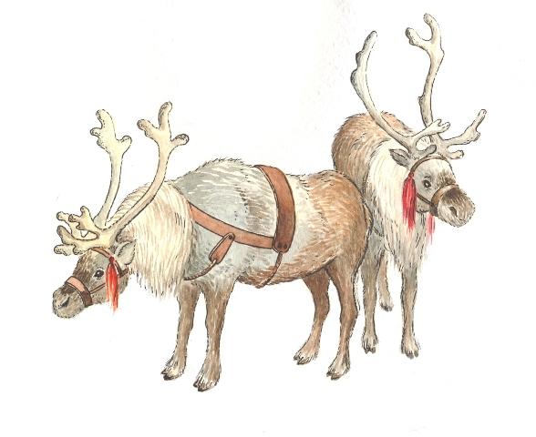 Олени. очень много рисунков с оленями,и не только.