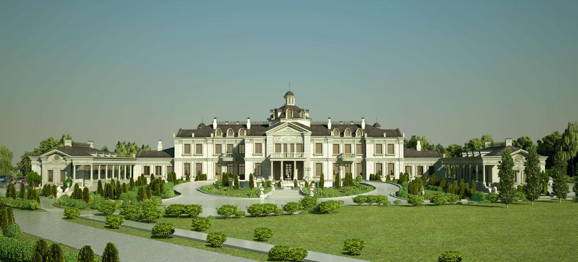 Визуализация резиденции в Марфино.