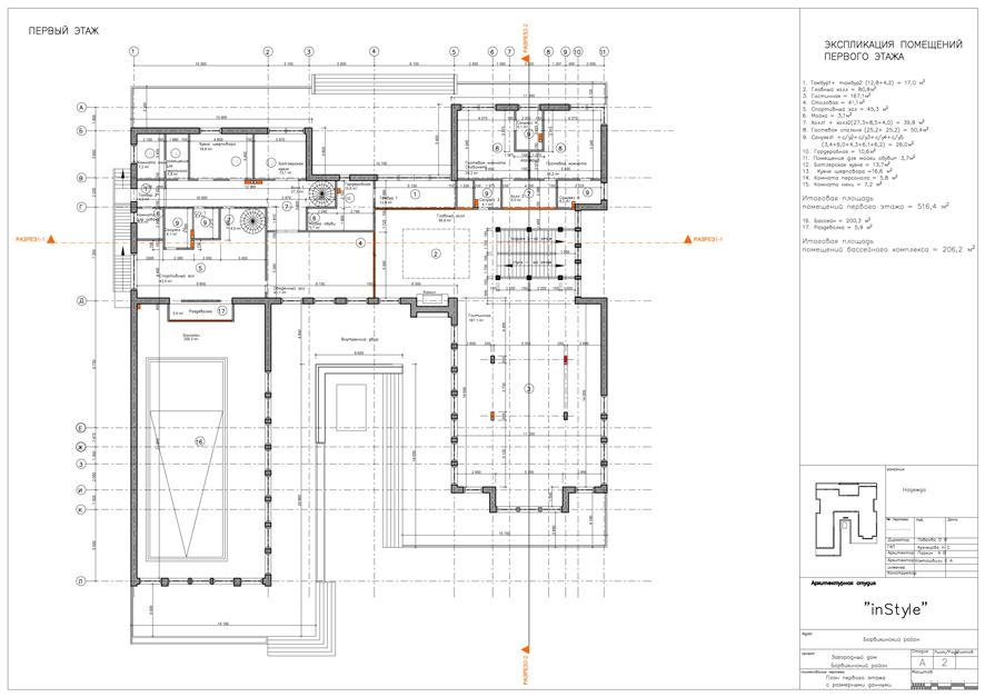 дом Ар-деко первый  этаж