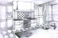 отрисовка кухни