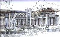 Эскиз дома в стиле ар-деко