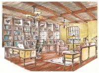 Кабинет для дачного домика