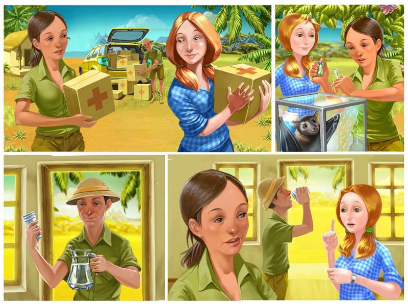 Бэк комикса Феселая ферма мадагаскар