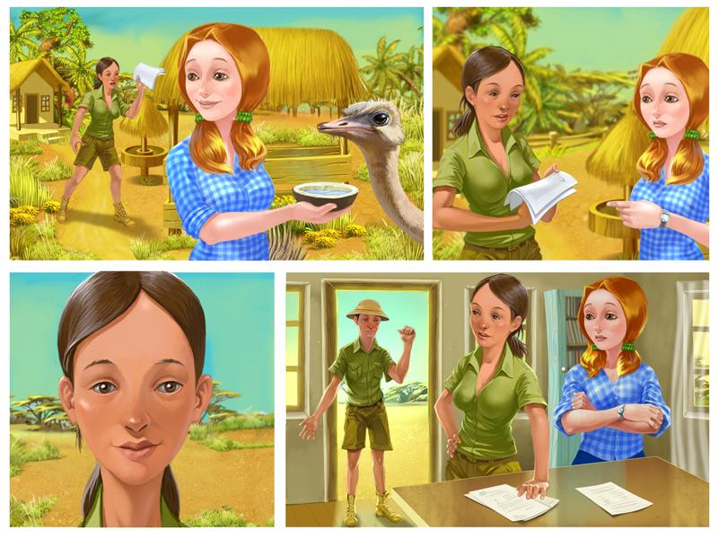 Бэк для комикса Феселая ферма мадагаскар