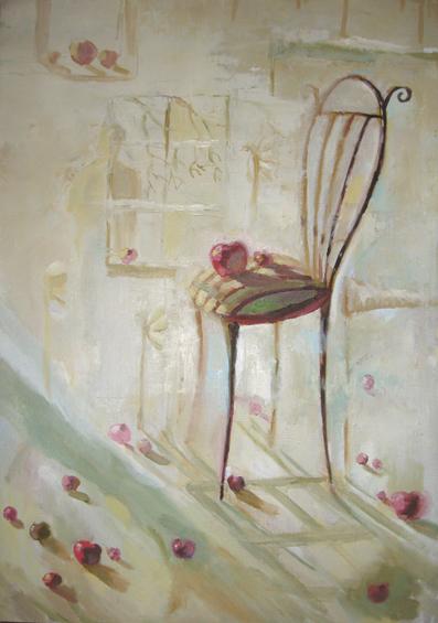 стульчик маслом