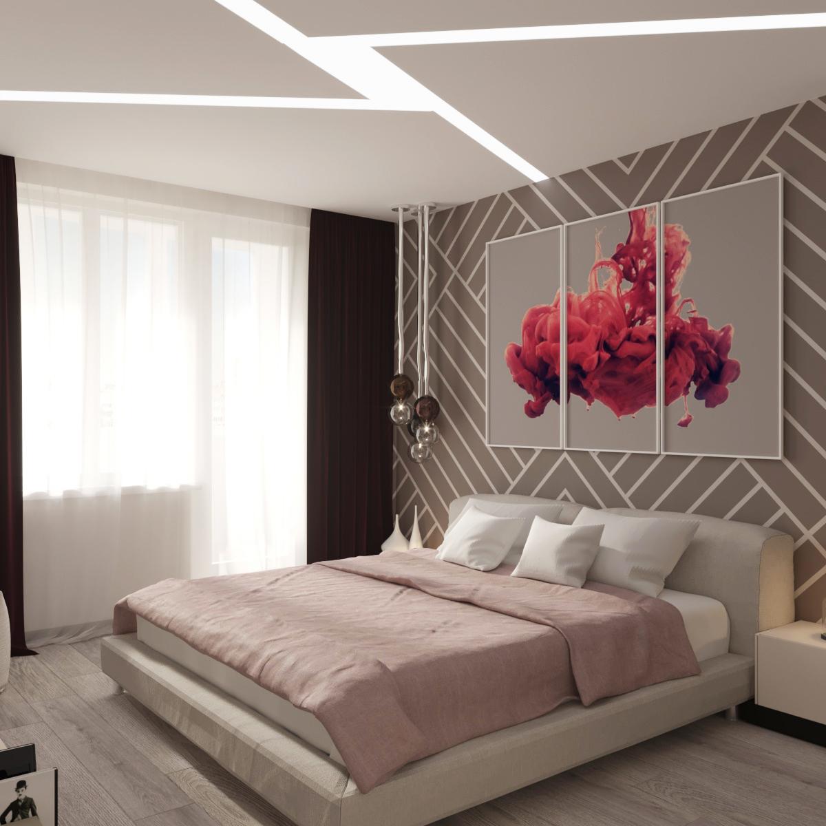 Дизайн проект 3-х комнатной квартиры (Спальня родителей)